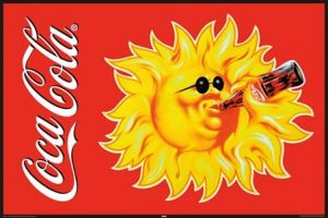 lghr16825+even-the-sun-drinks-coke-coca-cola-poster